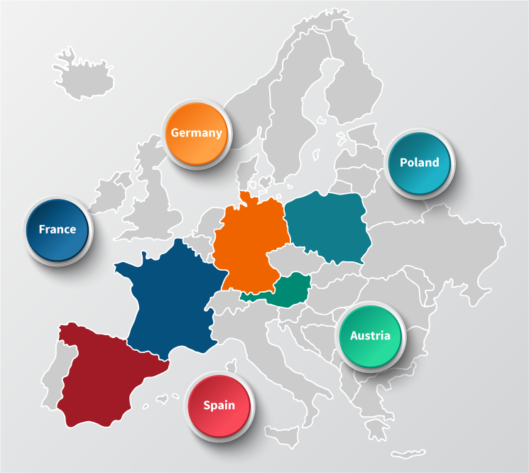Key non-english speaking markets in EU infographic